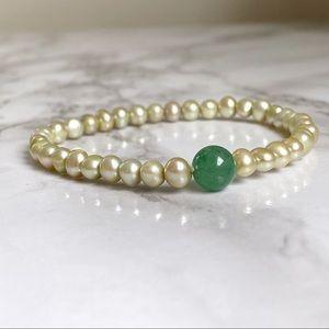 🎉5/20 SALE🎉 VTG costume bracelet jade/pearl